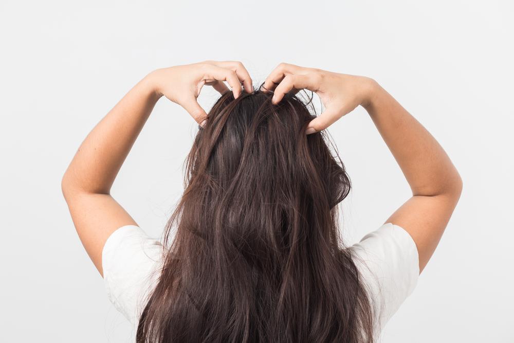 Massaging the hair well
